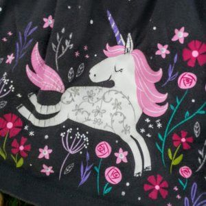 Jumping Beans girly gray & pink unicorn top 3T